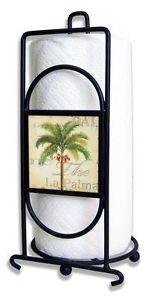 Decorative Paper Towel Holders | Palm-Tree-Decorative-Paper-Towel-Holder-Black-Wire-Coastal-Tropical ...