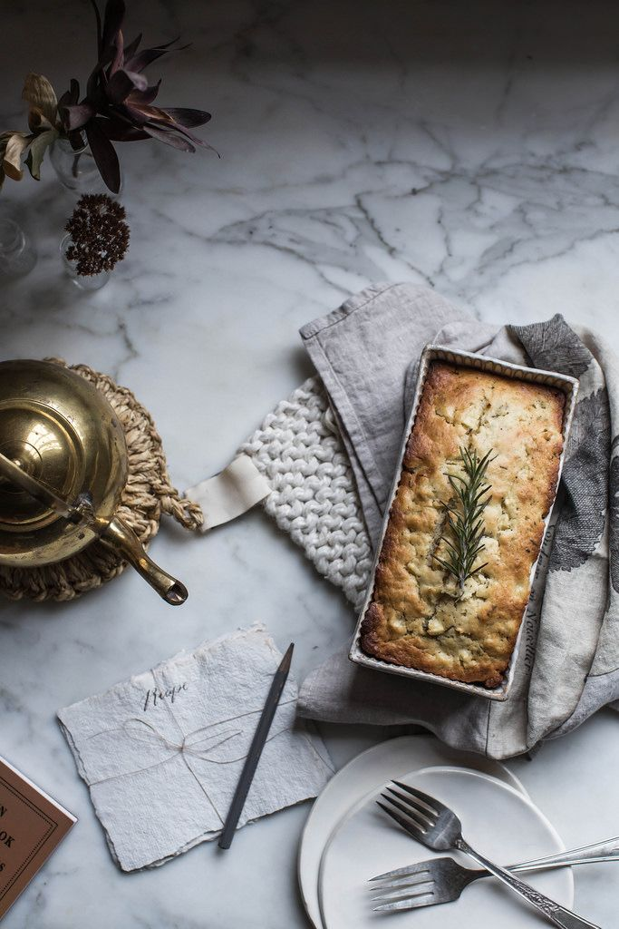 Local Milk   apple & rosemary buttermilk quickbread   on coming home