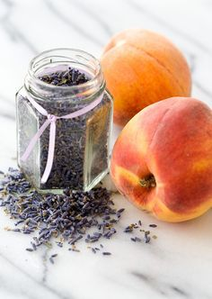 Peach Lavender Jam  YIELD: 6 cups  ingredients:  2 tablespoons dried lavender flowers  1/2 cup boiling water  4 cups finely chopped peaches (from about 5 to 6 medium peaches, peeled)  2 tablespoons lemon juice  6 cups granulated sugar  1 pouch liquid fruit pectin