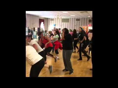 Robin Cotter Beauty and Fitness Spring into Wellness Kickboxing demo - YouTube