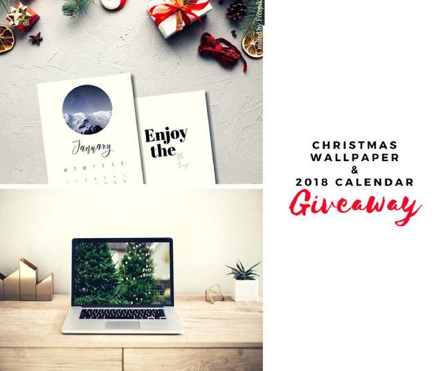 Free Christmas Desktop Wallpaper & 2018 Calendar Giveaway - La creme