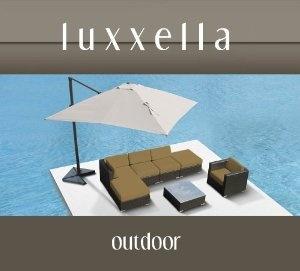 Luxxella Gazebo 7 pcs Outdoor Patio Wicker Furniture Sofa Set DARK BEIGE