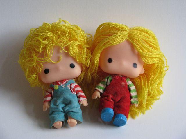 Patty & Jimmy vintage Sanrio small dolls by sirimaedoll, via Flickr