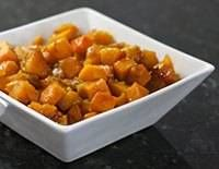 Baked maple and brown sugar butternut squash. Even squash-haters will love it.
