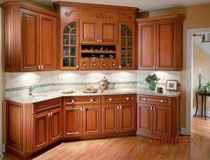 Armário para cozinha de madeira rústica