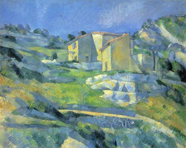 Houses at the L'Estaque by Paul Cezanne
