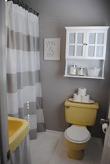 find this pin and more on yellow gray bathrooms - Cheap Bathroom Designs