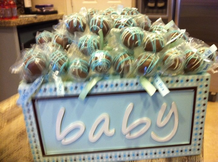 Cake Pop Centerpieces For Baby Shower : Baby Shower Cake Pop centerpiece. What s For Dinner Mom ...