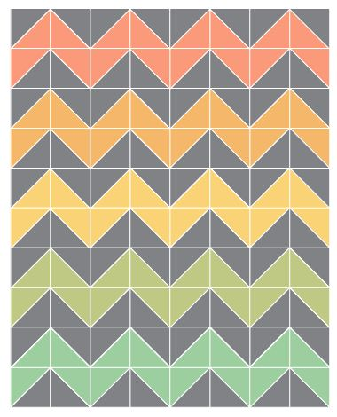 Free Chevron Quilt Pattern | ... free time to get this started. Here is my plan for a queen sized quilt