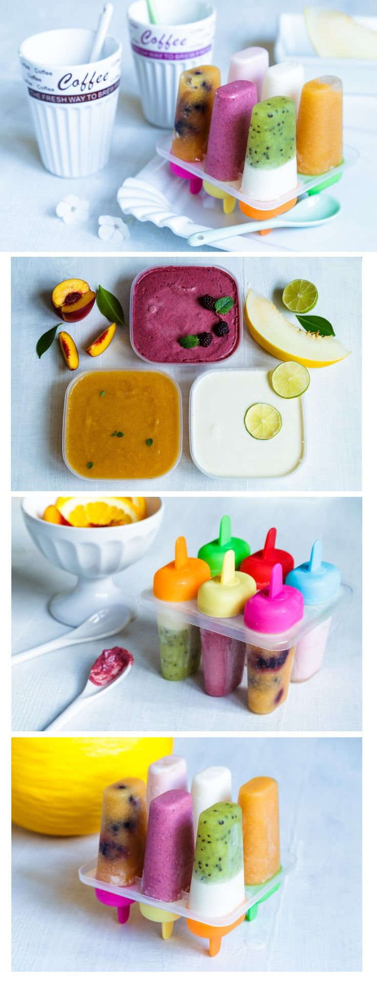 Téměř všechny děti milují zmrzlinu. Abyste jim dali zdravější verzi, vyzkoušejte domácí výrobu. Máme pro vás recept na  ovocnou broskvovou, smetanovou ostružinovou a jogurtovou s melounem. Na našem e-shopu pak najdete různá tvořítka.