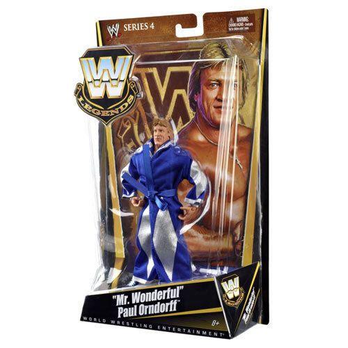WWE Mr Wonderful Paul Orndorff Series 4 Legends Action Figure Mattel WWF #Mattel