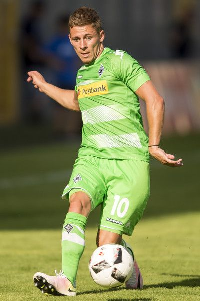 Thorgan Hazard of Borussia Moenchengladbach during the friendly match between SV Waldhof Mannheim and Borussia Moenchengladbach at Carl-Benz Stadium on July 9, 2016 in Mannheim, Germany.