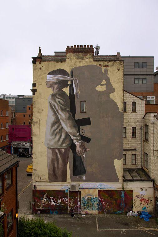 Street Art by Hyuro in Manchester, UK. #StreetArt #Graffiti #Mural