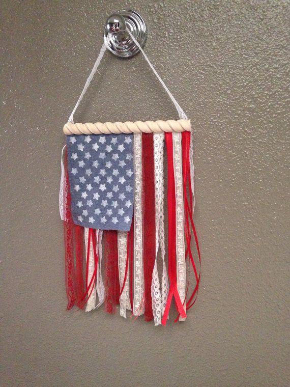 Pequeña cinta y encaje de bandera estadounidense por crazy4sushi