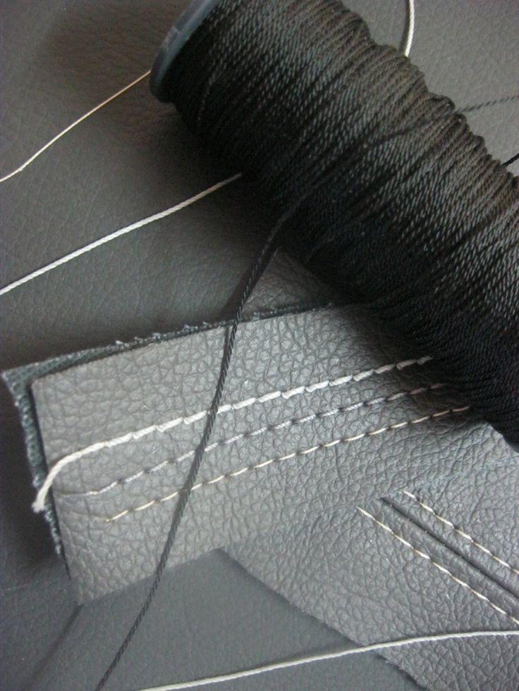 А это, для сравнения, обувная нить без названия и маркировки, которая продаётся практически в любом швейном магазине