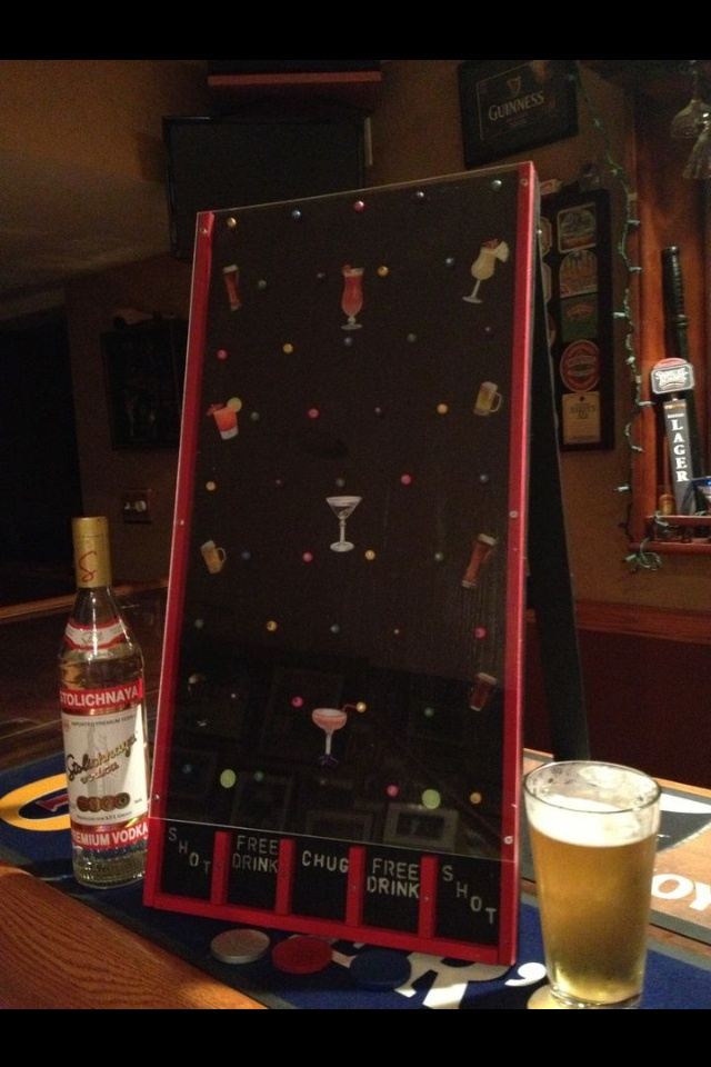 Homemade Plinko Game For Bar Or Drinking Drinking Games