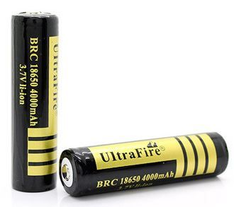 Ultrafire BRC 18650 Li-ion 4000mAh Battery This is a great battery for various mods including Innokin SVD, Smoktech SID, Vamo V4, Provari etc. with a massive capacity of 4000mAh . It is a protected battery with button top, perfect for your mod .