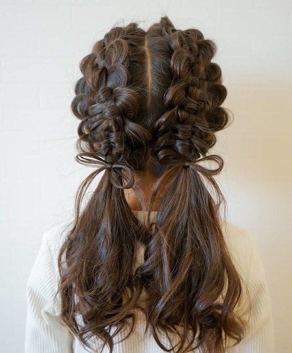 小学校高学年女子のおしゃれは髪型からはじめよう 周りと差をつける大人っぽくおしゃれなヘアアレンジ集7選 サンキュ ヘアアレンジ ロング アップ 長髪スタイル ビューティープロダクト