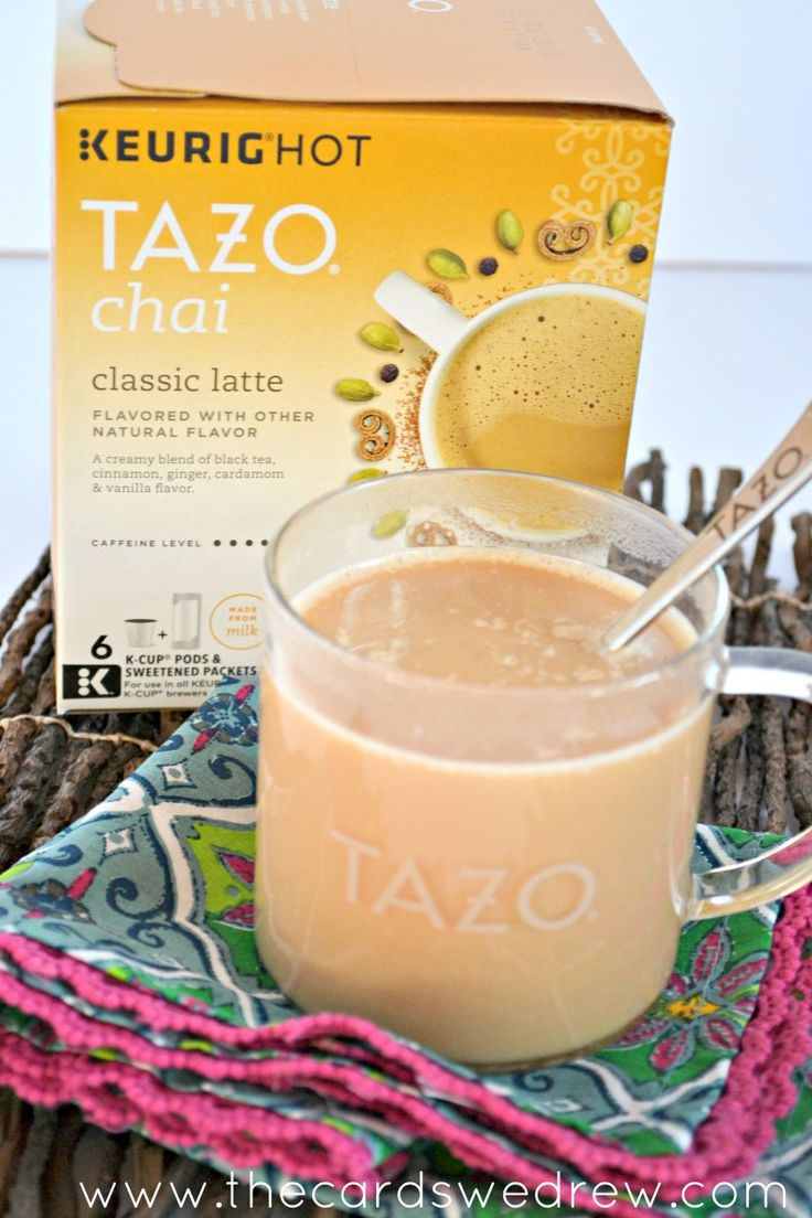 Homemade Keurig Hot TAZO Chai Tea Latte...the taste of #SweetMeetsSpicy from your own home!! #ChaiLatte #KCup #IC #ad