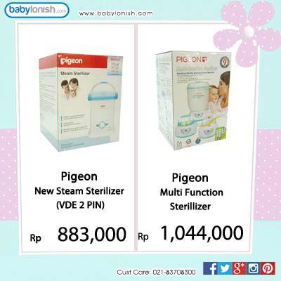 Dapatkan berbagai sterilisator botol susu bayi di babylonish.com Ada merek Pigeon, Little Giant, dan Mebby.  Gratis ongkir Jabodetabek.