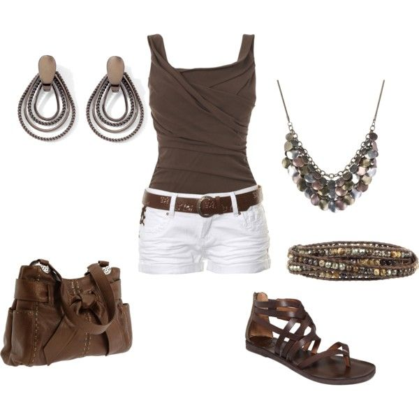 Brown - Summer, created by jklmnodavis on Polyvore