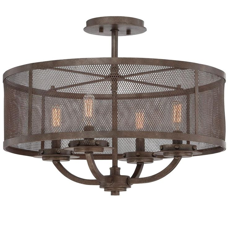 Screened In Industrial Ceiling Light