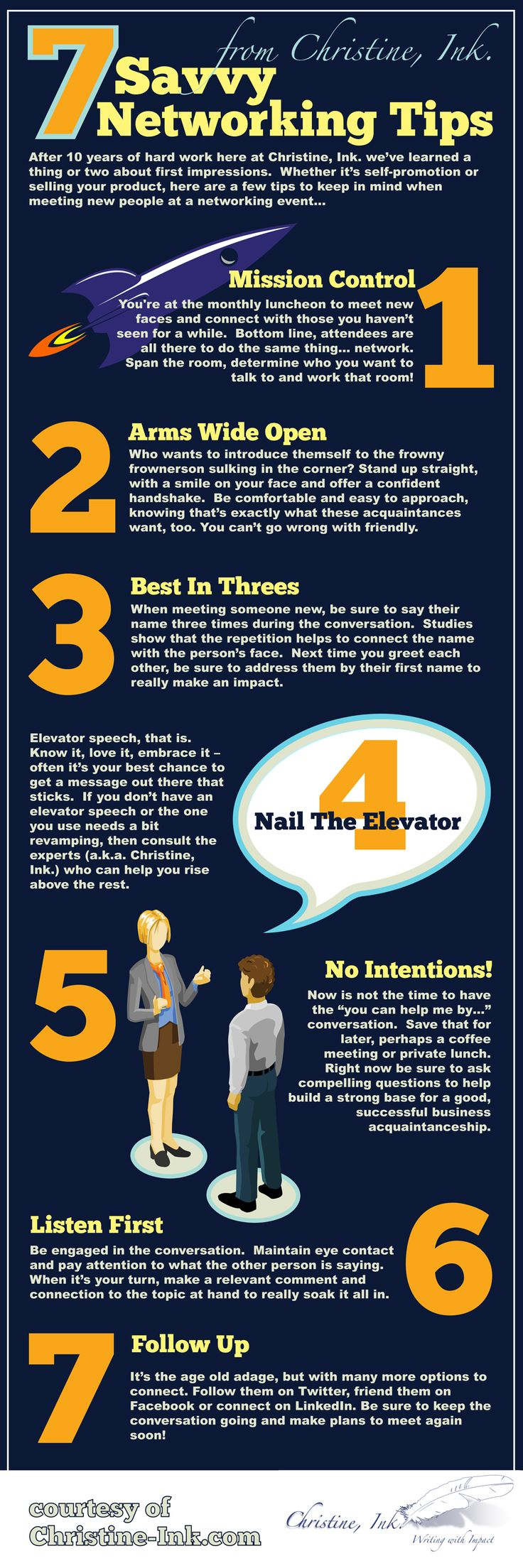 7 Savvy Networking Tips. Infographic: Business Networking Tipsu2026