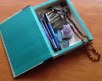 Hueco del libro | Reserva segura | Hueco del libro caja fuerte | Libro caja | Caja libro secreto | Caja de regalo | Esconder la caja | Diversión segura | Compartimiento secreto | Vintage