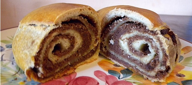 Putizza, a pastry filled with nuts, shows the Slavic influence on the dishes of Trieste