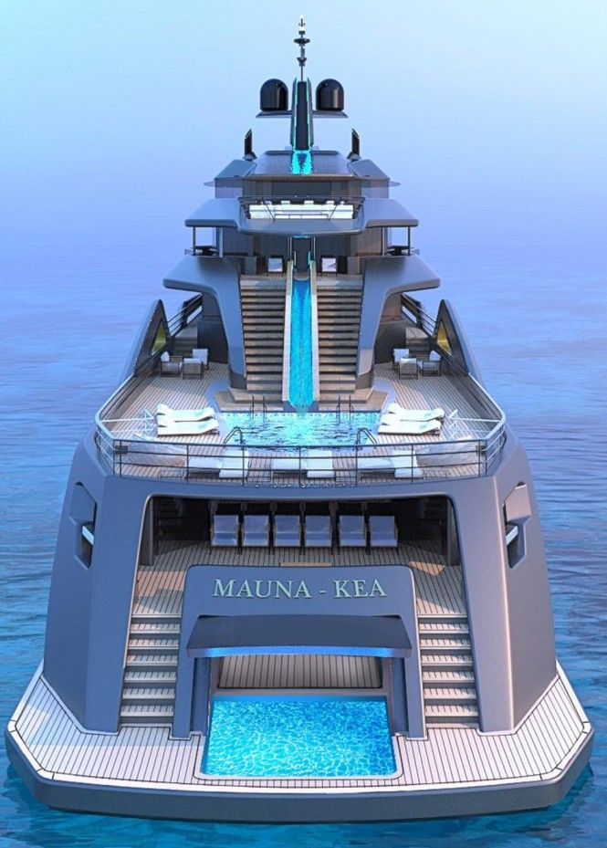 Mauna Kea: aft view. Superyacht concept by Fincantieri and Roberto Curto