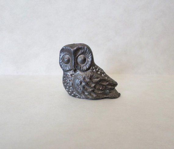 Pewter Owl Figurine