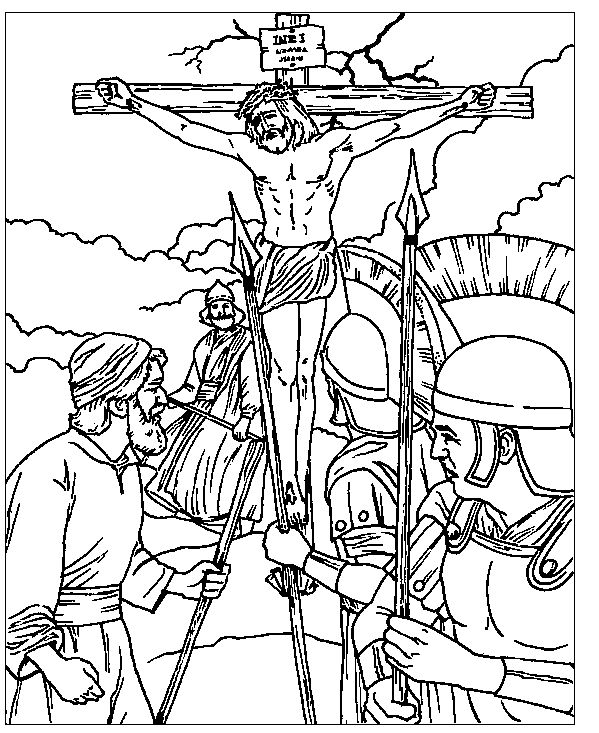 With A Faithful Heart April 2014 Children's Bible Class Cross Rhpinterest: Bible Coloring Pages Crucifixion At Baymontmadison.com