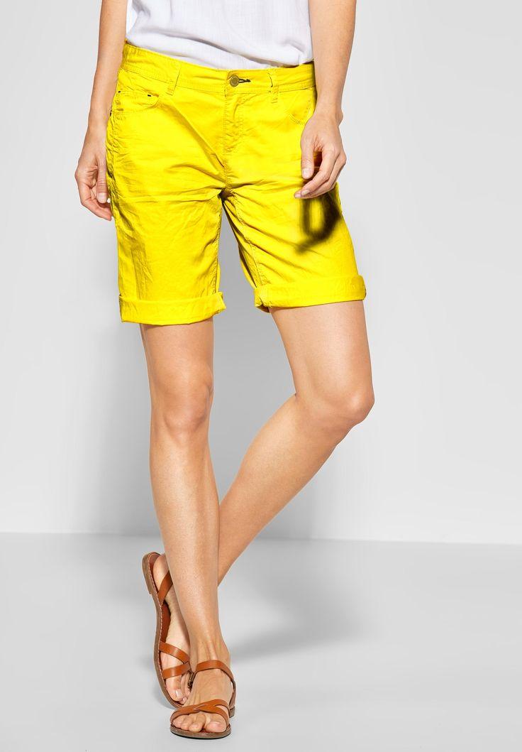 Street One – Basic Crash Bermuda Jane in Sunshine Yellow