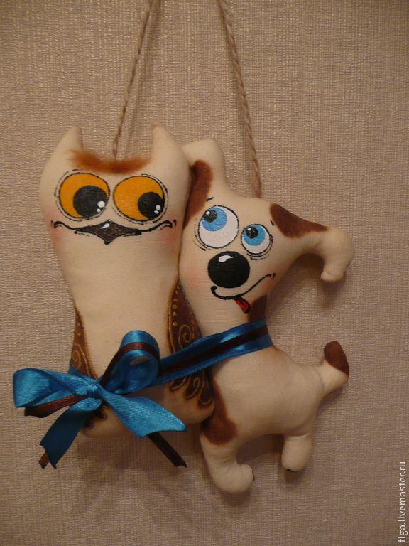 """Купить Интерьерная игрушка """"Не пара..."""" - бежевый, ароматизированная кукла, ароматизированная игрушка, ароматизированные"""