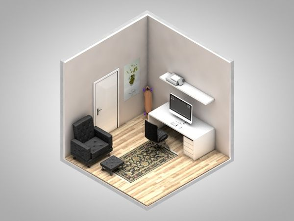 Isometric corners of my life by Petr Kollarcik, via Behance #digital art, #game design