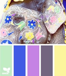 elephant: Colors Combos, Design Seeds, Blurb Ebook, Colors Palettes, Colors Schemes, Paintings Elephants, Rooms Colors, Elephants Colors, Colors Inspiration