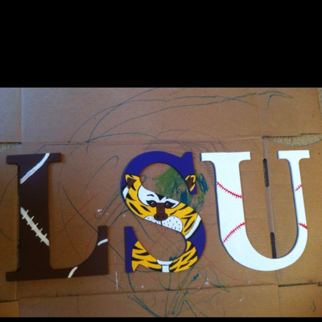 Lsu Letters I Made For The Boys Room Diy Pinterest