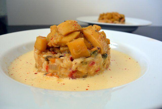 Découvrez la recette Fricassée de seiches mijotée au safran & Riz arborio façon Paëlla sur cuisineactuelle.fr.