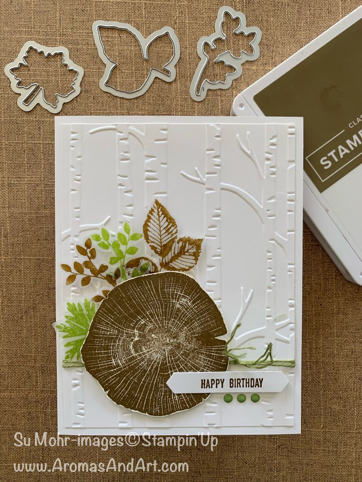 Masculine Woodland Birthday Card