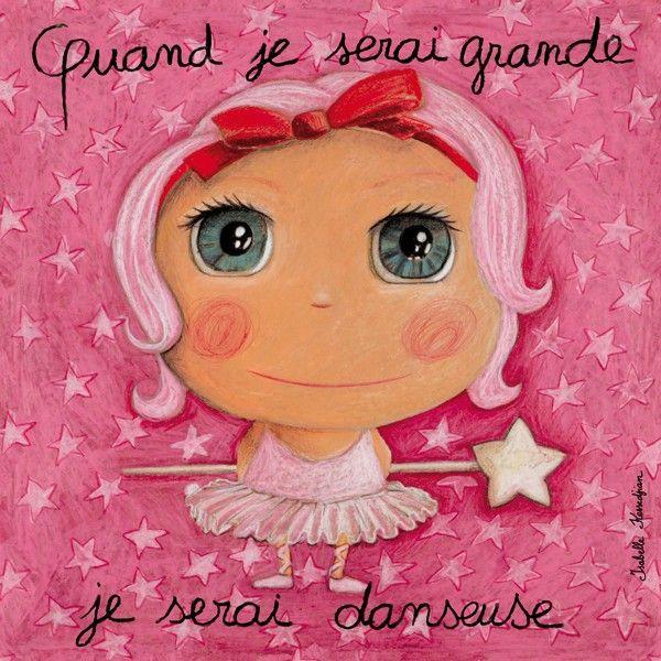 """Tableau d'Isabelle Kessedjian """"Quand je serai grande, je serai Danseuse"""" - le Coin des Créateurs"""