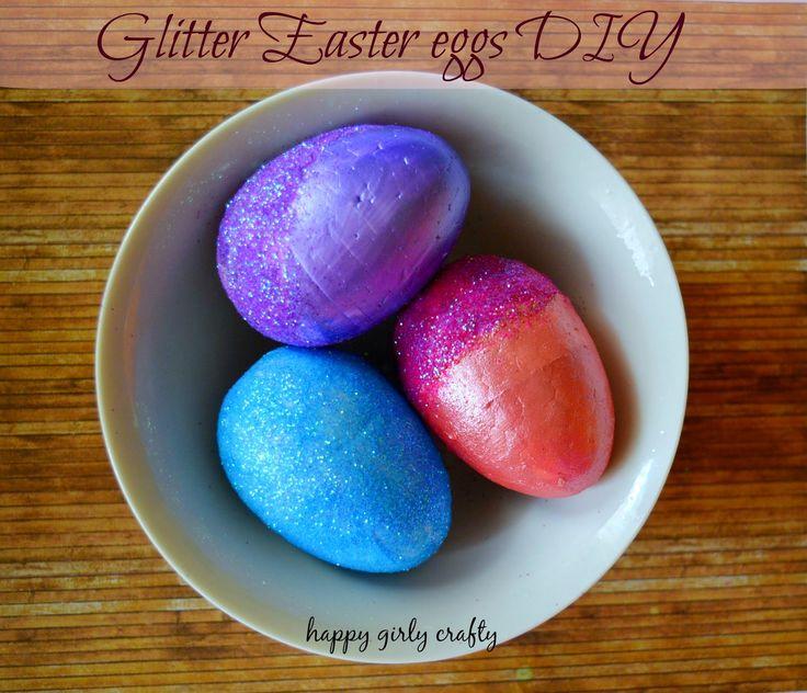 Glitter Easter eggs DIY! / Φτιάξε μόνη σου διακοσμητικά Πασχαλινά αυγά!