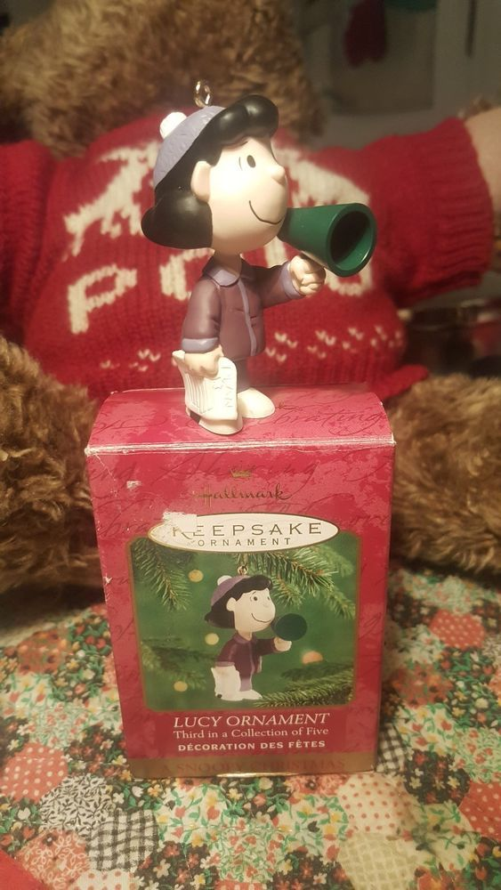 "Hallmark Keepsake Lucy Ornament "" A Snoopy Christmas "" 3rd in Coll. of 5  Xmas"