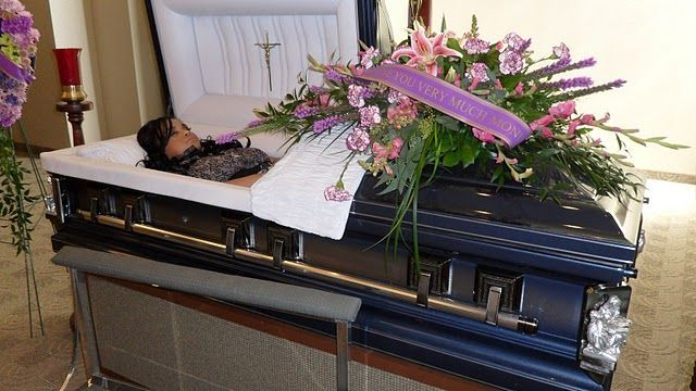 Monica Mapile In Her Open Casket During Her Funeral