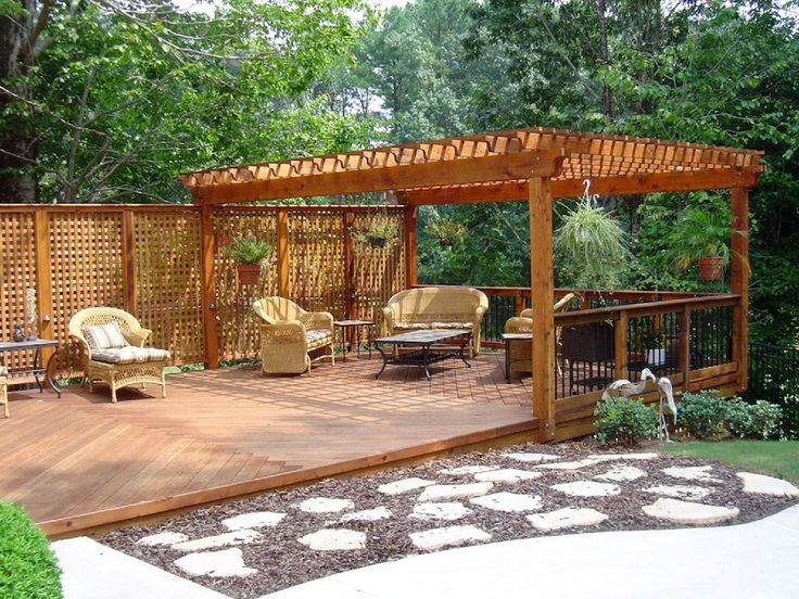 backyard deck ideas ground level house decor ideas