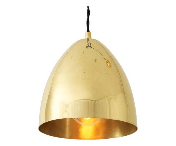 Lampadario in ottone Skyler ottone lucido