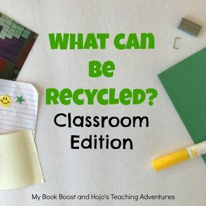 Are you wondering what can & can't be recycled in your classroom? This post has a list to help you out! Basic school supplies & materials are included, so you'll know what to teach your students. There's even a FREE printable for you to use. This will work great for a recycling science unit, OR use it any time of year as a reminder. Great for ALL grade levels and homeschool families! {preschool, Kindergarten,1st, 2nd, 3rd, 4th, 5th, & 6th grade - Middle School & High School Approved!}