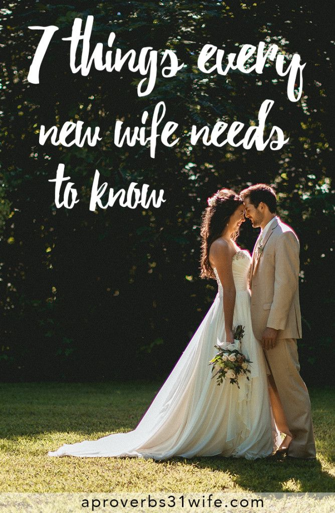 7 Things Every New Wife Needs to Know! Awesome tips for the bride-to-be from A Proverbs 31 Wife and Life by Elizabeth!