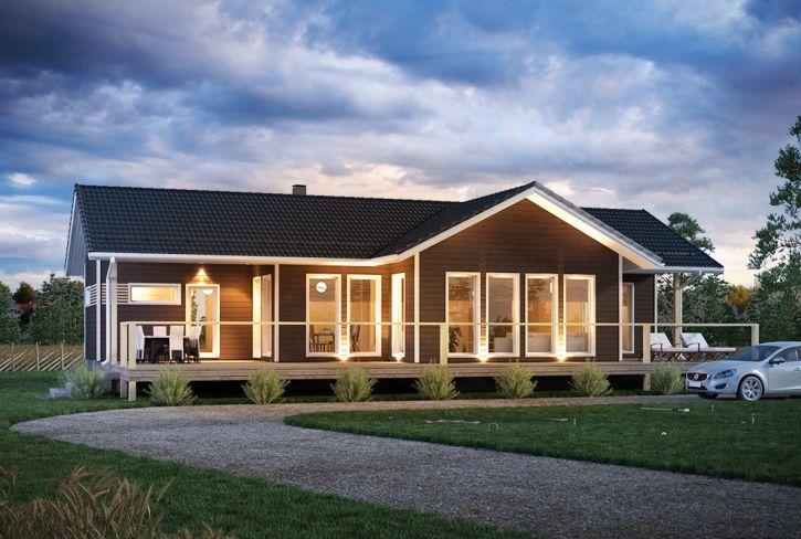 Valo luo kotia – Suviniitty: 106 m², 2 makuuhuonetta
