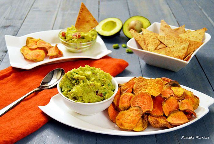Fava Bean Avocado Guacamole - lightened up guacamole with all the flavors.  Fava beans are creamy and are not detectable in this dish.  Adds protein and fiber to your favorite dish so you can enjoy more of it :)