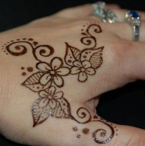 Easy Henna Tattoo Designs: Here are some easy Henna (Mehndi) designs which are Looking cute.